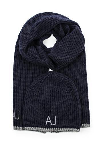 Muži - Pánská čepice + šál Armani Jeans 93750409936
