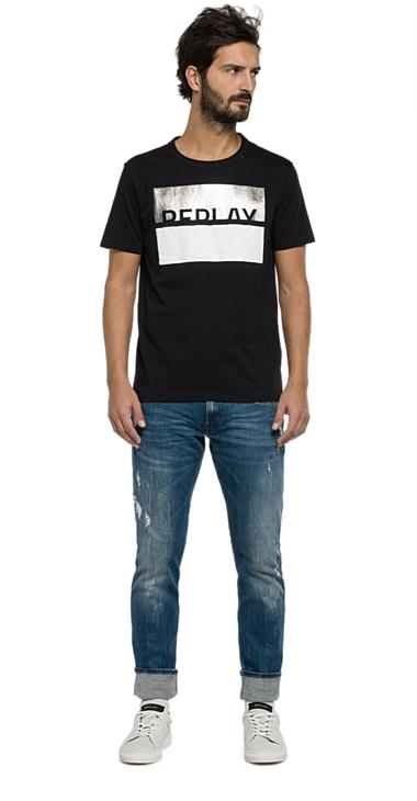 Muži - Pánské triko Replay M3089.0002660.098