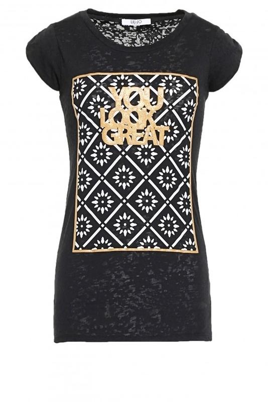 Módní značky - Dámské triko Liu-Jo W65125
