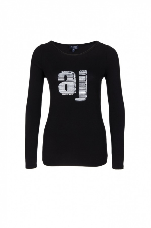 48619bf073 Dámské triko ARMANI JEANS C5H05 Černá