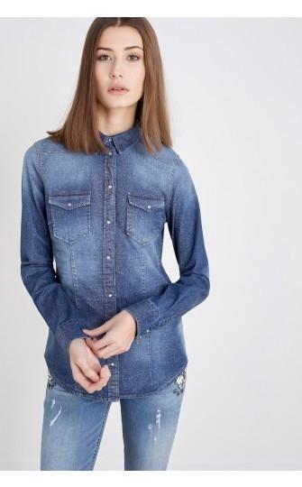 Výprodej až 50% - Riflová košile Liu-Jo W16310